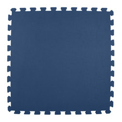 Greatmats - Greatmats Foam Floor Tile, 10 Pack, Navy Blue - This is a 10 pack of tiles. Free Shipping. Each tile is 2x2 ft in size and covers 4 SF, this 10 pack of foam tiles will cover 40 SF. 2 Border strips included per tile. Ships ground to your door.