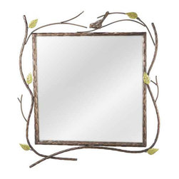Carmel Decor - Decorative Mirrors - Bird And Twig Wall Mirror -