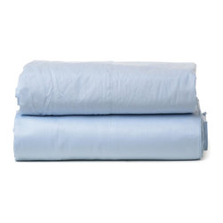 """Parachute - Parachute Percale Sheet Set In Powder - Most easily compared to the perfect white shirt, Parachute's percale sheet set is cool and crisp to the touch, with a lovely matte finish. It's everything you need to achieve that perfectly lived-in bedroom style. Each fitted sheet features a continuous elastic hem and 16"""" deep corner pockets. The signature Parachute pillowcases are designed with a center-back envelope closure that's meant to hug a pillow tight and create a clean look."""