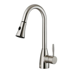 Vigo Industries - Stainless Steel Pull-Down Spray Kitchen Faucet - Complement any kitchen decor with this exquisite stainless steel pull-down sprayer faucet.