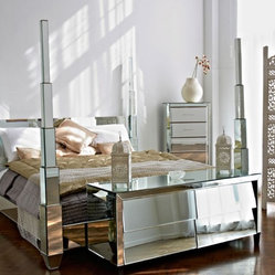 'The Prysm' Mirrored Four Poster Bed