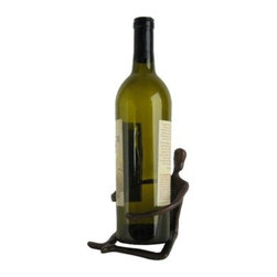 Danya B - Handcrafted Cast Bronze Man Wrapping Around Wine Bottle Holder - This gorgeous Handcrafted Cast Bronze Man Wrapping Around Wine Bottle Holder has the finest details and highest quality you will find anywhere! Handcrafted Cast Bronze Man Wrapping Around Wine Bottle Holder is truly remarkable.