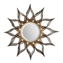 Uttermost - Adelphi Sunburst Mirror - Hand Forged Metal Finished In A Lightly Antiqued Gold Leaf.
