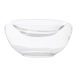 Arteriors - Delmonte Bowl, Large - A surprising twist on the conventional glass bowl, this model features a sublimely shallow recess at the top. Whatever you put in it — floating candles or blossoms, fruit or candy — hangs suspended over an empty void, elevating the everyday into something special.
