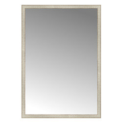 """Posters 2 Prints, LLC - 42"""" x 60"""" Libretto Antique Silver Custom Framed Mirror - 42"""" x 60"""" Custom Framed Mirror made by Posters 2 Prints. Standard glass with unrivaled selection of crafted mirror frames.  Protected with category II safety backing to keep glass fragments together should the mirror be accidentally broken.  Safe arrival guaranteed.  Made in the United States of America"""