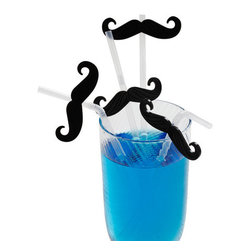 Mustachioed Refreshment Straws - Have a mustache grown on each guest with these straws!