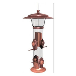 Classic Brands LLC - Radiant Finch Feeder - Beautiful brushed copper finish. Rotate perches to convert to a goldfinch only feeder. Four Stay Full Ports allocate seed evenly no more empty ports. Holds 1.5 lbs of seed.