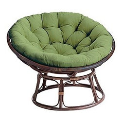 Papasan Chair & Stool Frames   Pier1 Imports - A classic chair, the Papasan Chair never goes out of style.  Made of rattan, this chair is perfect for a casual interior.  Purchase them in pairs for a balanced and well-rounded room.  Teenagers love these chairs, making them a great idea for rec rooms, media rooms or a teenager's bedroom.  They are perfect for curling up in with a good book or a purring 4-legged friend.
