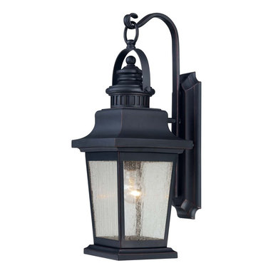 Karyl Pierce Paxton - Karyl Pierce Paxton Barrister Transitional Outdoor Wall Sconce X-52-4553-5 - Before electricity outdoor lanterns had to be lit by hand every evening. Today's transitional outdoor wall light fixtures illuminate with the flip of a switch. The Savoy House Lighting Barrister Transitional Outdoor Wall Sconce has all the charm of old fashioned lantern lights, including the scrolled hook suspending it, but with today's ease of illumination.