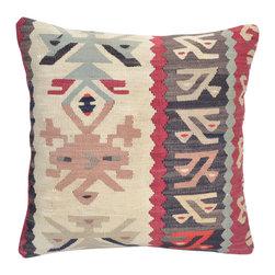 "Turkish Import - 16"" Hand Woven Bohemian Decor Turkish Kilim Pillow Cover - 16"" hand knit pillow Bohemian Decor Turkish Kilim Lumbar Pillow Cover,linen pillow, Decorative Throw Pillows,Tribal Cushion.pillow cover."