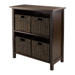 Winsome Wood - Granville 2-section Storage Shelf, Set of 5 - Our Granville, 2-section Storage Shelf is perfect to store and organized your goodies. This set comes with shelf that is made from combination of solid and composite wood.