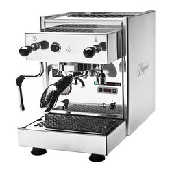 "Pasquini - Pasquini Livia G4 Commercial Semi-Automatic Espresso Machine with PID - Stylistic stainless steel body panels with Pasquini logo. Heat exchanger allows continuous espresso extractions (until the reservoir sensor cuts off power). Automatic water-refill of internal boiler allows and continuous steaming (until the reservoir sensor cuts off power). Water reservoir safety switch will turn the machine ""OFF"" when the water level is low in the reservoir. PID temperature control sensor monitors the boiler temperature. Nickel plated boiler secured to black frame supports unit during transportationResettable safety thermostat under boiler to prevent overheatingAdjustable overpressure valve for pump pressureRemovable access panel on the bottom to reset safety thermostat and test/replace heating element41 watt vibration pump with brass output produces the 9 bar pump pressure required to extract espresso - remember, only 9 bar is needed for espresso!. Protected on/off switch. Gauge for pump pressure. Multi-directional steam and hot water wands offer ease of use with joystick controls. Steam valve has a locking position in the upwards position. Steam wand has internal insulation to keep it cool to the touch.Particle filter on water intake hose protects pump from larger particles. Thermostat controlled heated grouphead - a separate heating element and thermostat control the temperature of the grouphead for that perfect espresso. Two cup warmers, one on the top and one on the front. Accessories: double spout portafilter, single cup filter basket, double cup filter basket, blind filter basket for back flushing, plastic tamper, plastic scoop, grouphead brush, one pack of descaler, two Pasquini logo stickers."