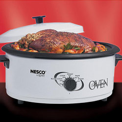 Nesco Nesco 4816 14 White 6 Quart Roaster Oven This