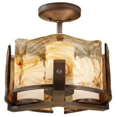 Bathroom Vanity Lighting Aris Semi-Flushmount by Murray Feiss