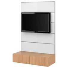 BESTÅ/FRAMSTÅ TV/storage combination - beech effect/glass - IKEA