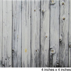 None - Wood Grain Texture Ceramic Wall Tiles (Pack of 20) (Samples Available) - Add a rustic,charming touch to your bathroom,kitchen or outdoor patio with these chic wall tiles. Made with Grade 1 ceramic,these high-quality tiles feature an old-fashioned wood grain pattern that is ideal for country and urban decor alike.