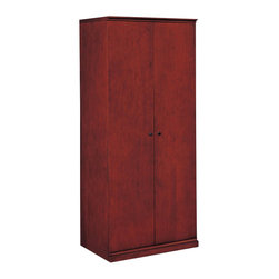 DMi Furniture - DMi Del Mar Double Door Storage Wardrobe - DMi Furniture - Wardrobe Armoires - 730206 - With its striking Sapele Pomele veneers Sedona Cherry finish and subtle Shaker influences Del Mar is a handsome alternative to the customary traditional office environment.