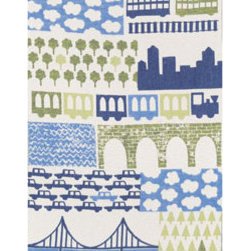 Going Places Kids Blanket - This wool blanket would be a fun but chic piece for a little globetrotter's room.