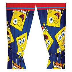 Franco Manufacturing - Spongebob Squarepants Drapes Scribble Sponge Curtains - FEATURES: