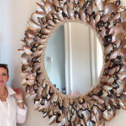 Mother of Pearl Oyster shells - Polished Oyster wing shells 4' 6'' round. different size available apon request.