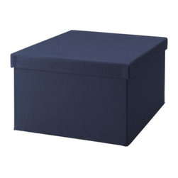 K Hagberg/M Hagberg - STRIKT Box with lid for paper - Box with lid for paper, dark blue