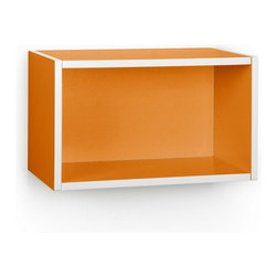 Way Basics - Wall Rectangle, Orange - Our new Wall Rectangles maintain the simple design and functionality of the Storage Rectangle, but are stylishly built for your wall space. These lightweight, sturdy, eco-friendly Wall Rectangles are perfect; whether you want a unique organizational display for your mementos, or functional shelving, Wall Rectangles are the newest and coolest addition to our zBoard collection!