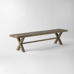 Jardine Bench - This bench is a sweet and lazy number, and it's just in time for summer.