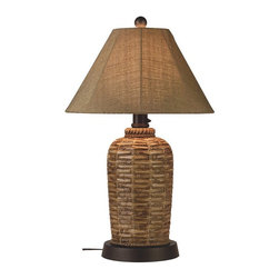 Patio Living Concepts - South Pacific Outdoor Table Lamp Multicolor - 45933 - Shop for Lamps from Hayneedle.com! Enjoy a little island inspiration with the South Pacific Outdoor Table Lamp. This outdoor lamp features a bamboo design made of durable all-weather resin. It adds attractive illumination via a 2-level dimming switch and a single 100-watt bulb (bulb not included). It s completely weatherproof with an unbreakable polycarbonate waterproof cover. Comes complete with a 16-foot cord for easy placement.About Greenway Home ProductsGreenway Home Products is a diversified home products company that designs develops manufactures and markets an extensive line of residential appliances. The extensive line-up of products includes water dispensers water treatment accessories laundry racks solar fountains wine cabinets and electric fireplaces all of which incorporate cutting-edge design and technology. Designed and engineered in Canada all of Greenway's products are made with a strong commitment to design and innovation.
