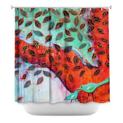 DiaNoche Designs - Shower Curtain Artistic - Eternal Love - DiaNoche Designs works with artists from around the world to bring unique, artistic products to decorate all aspects of your home.  Our designer Shower Curtains will be the talk of every guest to visit your bathroom!  Our Shower Curtains have Sewn reinforced holes for curtain rings, Shower Curtain Rings Not Included.  Dye Sublimation printing adheres the ink to the material for long life and durability. Machine Wash upon arrival for maximum softness. Made in USA.  Shower Curtain Rings Not Included.