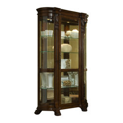 Curved End Curio in Foxcroft by Pulaski Furniture - Curved End Curio ...