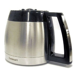 Cuisinart - Cuisinart 12-Cup Replacement Thermal Carafe For Use W/DGB-900BC and DGB-2400 - 12-cup (5 oz.) thermal carafe with ergonomic handle, drip less. Pouchest and knuckle guard. Carafe is Stainless Steel with black handle and lid. For use with models DGB-900BC, DCC-2400 and DCC-2700 series
