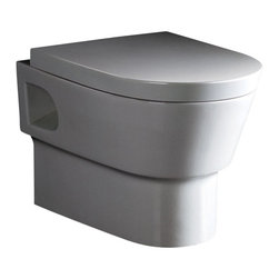 EAGO - EAGO WD332 Modern Wall Mounted Dual Flush White Ceramic Toilet - EAGO now offers wall mounted toilets so you can enjoy the benefits of having an open floor which is easy to clean and simply looks neat. You will need an in wall tank carrier to go with this toilet. EAGO makes a dual flush model to match model PSF332