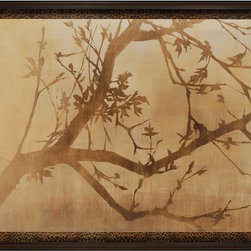 Paragon Decor - Tree Silhouette Artwork - Exclusive Embellished Giclee on Canvas - Mounted on Board