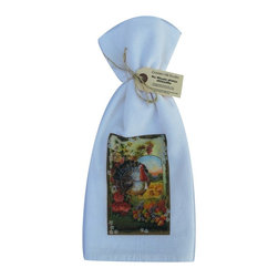 Thanksgiving Greetings    Flour Sack Towel  Set of 2 - A fabulous set of 3 flour sack towels. This set features a wonderful Thanksgiving antique print of wishing Thanksgiving Greetings.   These towels are printed in the USA by American Workers!