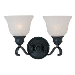 Maxim Lighting - Maxim Lighting Linda Traditional Wall Sconce X-KBCI80811 - Decorate with an eye-catching piece, such as with this Maxim Lighting Linda Traditional Wall Sconce. It features a frame in a sleek, black finish with long flowing arms that support ice glass shades. It's a beautiful, two-light, 10-inch-tall piece which will bring elegance and beauty to any room in your home.