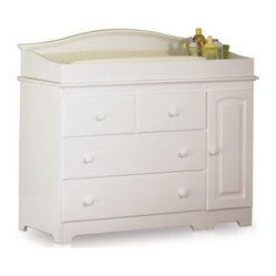 Windsor 3 Drawer Changing Table with Changing Station - White - With its classic style, solid ...