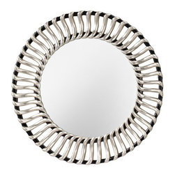 """Murray Feiss - Murray Feiss MR1145 Cosmo 42"""" Diameter Clear Rounded Mirror - Murray Feiss MR1145 Cosmo 42"""" Diameter Clear Rounded MirrorForty two inches in diameter, this clear glass rounded wall mirror adds luxury to any room. With its traditional d�cor, this rounded shaped mirror from the Cosmo Collection is distinct and eye-catching. Hanging hardware included and affixed to the frame enabling mirror to be hung horizontally or vertically.Murray Feiss MR1145 Features:"""