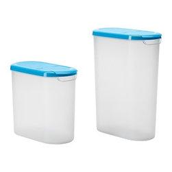 Ola Wihlborg - JÄMKA Jar with lid, set of 2 - Jar with lid, set of 2, transparent white, blue