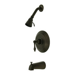 """Kingston Brass - Oil Rubbed Bronze Restoration Single Handle Tub & Shower Faucet KB3635AL - Solid brass water way construction, Premium color finish resist tarnishing and corrosion, 2.5 GPM / 9.5 LPM at 60 PSI, 6"""" reach Shower Arm, 1/4 turn washerless cartridge, 1/2"""" IPS Inlets, Pressure Balance Valve, Temperature Check Stop, Ten year limited warranty.. Manufacturer: Kingston Brass. Model: KB3635AL. UPC: 663370009839. Product Name: Single Handle Tub & Shower Faucet. Collection / Series: Restoration. Finish: Oil Rubbed Bronze. Theme: Classic. Material: Brass. Type: Faucet. Features: Fine artistic craftsmanship"""