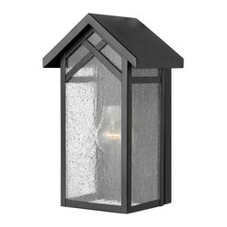 Hinkley - Hinkley Holbrook One Light Black Outdoor Wall Light - 1797BK-GU24 - This One Light Outdoor Wall Light is part of the Holbrook Collection and has a Black Finish. It is Outdoor Capable.