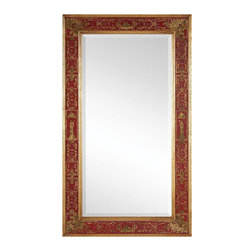Jonathan Charles - New Jonathan Charles Mirror Gold Red Plain - Product Details