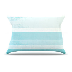 "Kess InHouse - CarolLynn Tice ""Waves"" Blue Aqua Pillow Case, King (36"" x 20"") - This pillowcase, is just as bunny soft as the Kess InHouse duvet. It's made of microfiber velvety fleece. This machine washable fleece pillow case is the perfect accent to any duvet. Be your Bed's Curator."