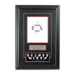 "Heritage Sports Art - Original art of the MLB 1962 Texas Rangers uniform - This beautifully framed piece features an original piece of watercolor artwork glass-framed in an attractive two inch wide black resin frame with a double mat. The outer dimensions of the framed piece are approximately 17"" wide x 24.5"" high, although the exact size will vary according to the size of the original piece of art. At the core of the framed piece is the actual piece of original artwork as painted by the artist on textured 100% rag, water-marked watercolor paper. In many cases the original artwork has handwritten notes in pencil from the artist. Simply put, this is beautiful, one-of-a-kind artwork. The outer mat is a rich textured black acid-free mat with a decorative inset white v-groove, while the inner mat is a complimentary colored acid-free mat reflecting one of the team's primary colors. The image of this framed piece shows the mat color that we use (Red). Beneath the artwork is a silver plate with black text describing the original artwork. The text for this piece will read: This original, one-of-a-kind watercolor painting of the 1962 Washington Senators (now Texas Rangers) uniform is the original artwork that was used in the creation of this Texas Rangers uniform evolution print and tens of thousands of other Texas Rangers products that have been sold across North America. This original piece of art was painted by artist Bill Band for Maple Leaf Productions Ltd. Beneath the silver plate is a 3"" x 9"" reproduction of a well known, best-selling print that celebrates the history of the team. The print beautifully illustrates the chronological evolution of the team's uniform and shows you how the original art was used in the creation of this print. If you look closely, you will see that the print features the actual artwork being offered for sale. The piece is framed with an extremely high quality framing glass. We have used this glass style for many years with excellent results. We package every piece very carefully in a double layer of bubble wrap and a rigid double-wall cardboard package to avoid breakage at any point during the shipping process, but if damage does occur, we will gladly repair, replace or refund. Please note that all of our products come with a 90 day 100% satisfaction guarantee. Each framed piece also comes with a two page letter signed by Scott Sillcox describing the history behind the art. If there was an extra-special story about your piece of art, that story will be included in the letter. When you receive your framed piece, you should find the letter lightly attached to the front of the framed piece. If you have any questions, at any time, about the actual artwork or about any of the artist's handwritten notes on the artwork, I would love to tell you about them. After placing your order, please click the ""Contact Seller"" button to message me and I will tell you everything I can about your original piece of art. The artists and I spent well over ten years of our lives creating these pieces of original artwork, and in many cases there are stories I can tell you about your actual piece of artwork that might add an extra element of interest in your one-of-a-kind purchase."