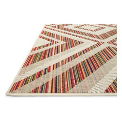 """Loloi - Indoor/Outdoor Ibiza 7'10""""x10'9"""" Rectangle Ivory-Multi Area Rug - The Ibiza area rug Collection offers an affordable assortment of Indoor/Outdoor stylings. Ibiza features a blend of natural Ivory-Multi color. Machine Made of Polypropylene the Ibiza Collection is an intriguing compliment to any decor."""