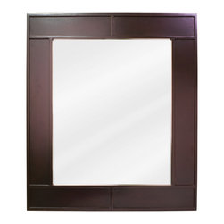 "Hardware Resources - Lyn Design Bathroom Mirror - Espresso Manhattan Mirror by Lyn Design 26"" x 30"" espresso mirror with beveled glass. Corresponds with VAN042"
