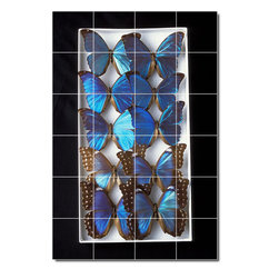Picture-Tiles, LLC - Insects Photo Shower Tile Mural 13 - * MURAL SIZE: 48x32 inch tile mural using (24) 8x8 ceramic tiles-satin finish.
