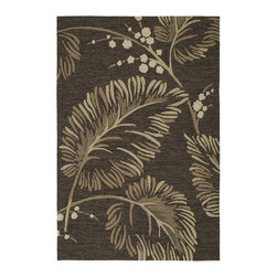 Kaleen - Home & Porch Palmyra 2025 40 Chocolate Rug by Kaleen - 9 ft x 12 ft - Construction: Machine Made