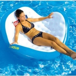 Sportsstuff Rock-n-Roll Inflatable Lounge - Look fabulous and be the envy of everyone while doing absolutely nothing in the Rock-n-Roll Inflatable Lounge from SportsStuff. This sleek and sexy new design rocks and drifts serenely and the ergonomic shape is both fashionable and functional allowing you to recline sit up or lay out to work on your savage tan. Perfect for lazy pool drifting river or beach haven. Use it on land too! Relaxing has never felt or looked so good. About SportsStuff Inc.SportsStuff is dedicated to showing you how much fun one company can create. They design watersports gear for those who play hard and live for excitement with a focus on quality construction and safety always. The only thing serious is the warranty longer than anyone else in the industry. Their goal is to make sure your experience with is always positive and enjoyable.