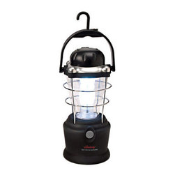 "Kay Home Products - Rechargeable Indoor and Outdoor LED Lantern - 28"" - With its 28 ultra bright diffused LED bulbs that never need replacement, this rechargeable lantern provides 56 lumens. It features a side crank that recharges the NiMH power source and an outlet that lets you charge a mobile device in an emergency. Its lightweight easy-to-carry design boasts a plastic base and flip-up hook as well as a built-in compass for added convenience. Best of all, it comes with a bonus headlamp.Features:"