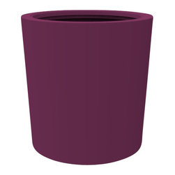 Decorpro - Large Vienna Planter, Purple - The Vienna planter is a more traditionally shaped pot. The round shape allows this planter to fit in with a wide variety of settings both indoors and outdoors.